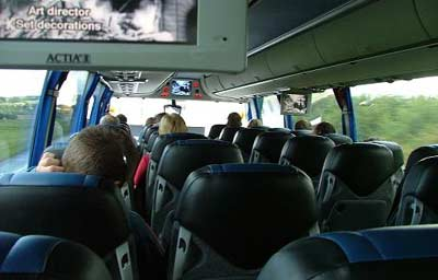 On the Student Agency bus to Karlovy Vary