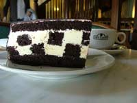 Chessboard cake at Cafe Elefant