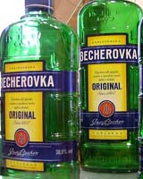 The green, blue and gold of Becherovka