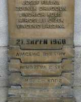 Detail of the Liberec memorial of the 1968 invasion