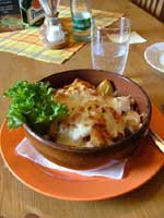 Potato hot Pot at the Lost and Found restaurant in Liberec