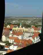 View form the churhc tower in Melnik