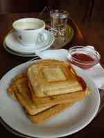 Toasted sandwiches for breakfast at the angel