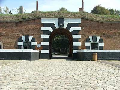 Entrance to Terezin's small fortress